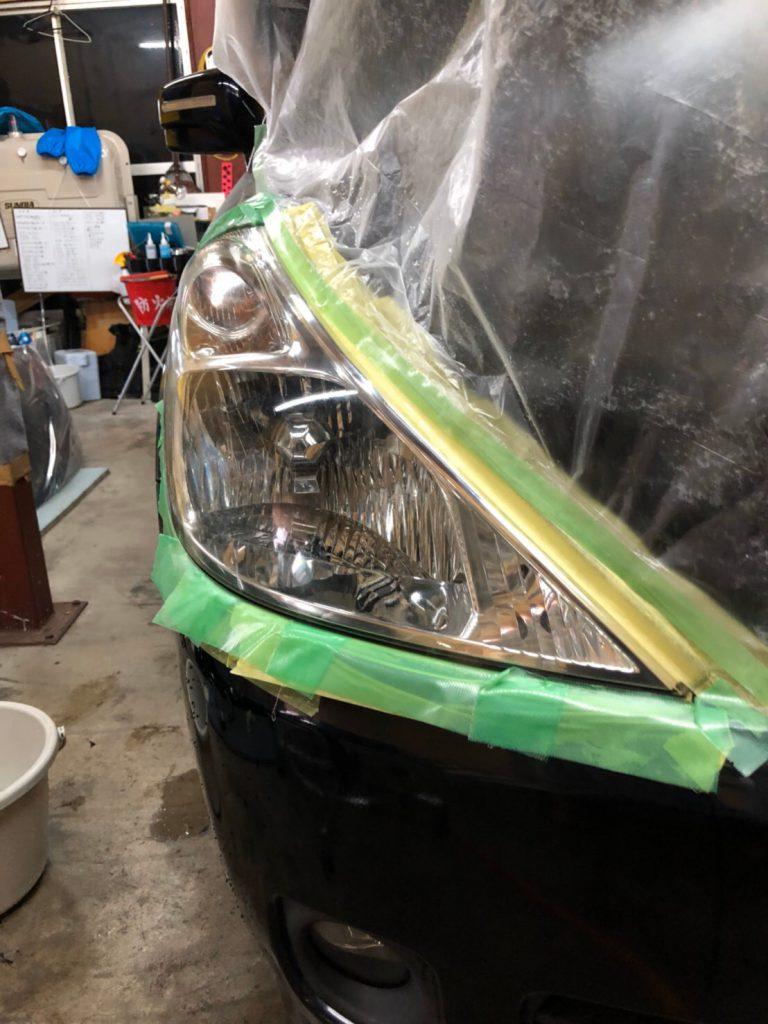 ヘッドライト磨き・コーティング
